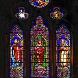 Vienne Cathedral Windows by Sally Weigand