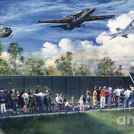 Vietnam Veterans Memorial Flyover by Randy Green