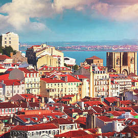 View Across The City Of Lisbon Portugal