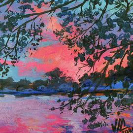 View from Michigan United States painting on vellum by Vali Irina Ciobanu by Vali Irina Ciobanu