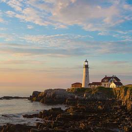 View of Portland Head Light at Daybreak by Diane Diederich