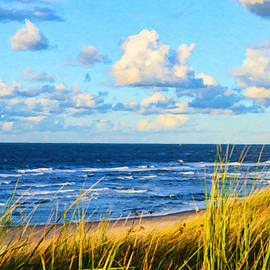 View of the Baltic Sea from the Dunes - DWP1413648 by Dean Wittle
