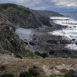 View South from Higher Sharpnose Point Cornwall by Richard Brookes