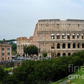 View to the Colosseum from the street, Rome, Italy by Beautiful Things
