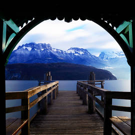View to the French Alps by Angelika Vogel