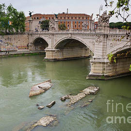 View to the historical buildings and bridge, Rome, Italy by Beautiful Things