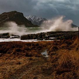 Vik Beach Storm by Norma Brandsberg