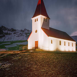 Vik Church Iceland II by Joan Carroll