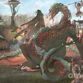 Village Dragon by Tony W Morgan