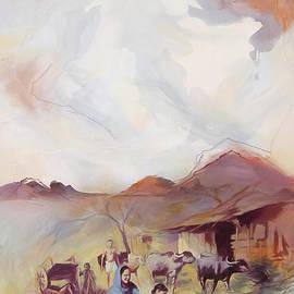 Village life Pakistani Village  by Gull G