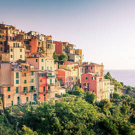 Village of Corniglia in Cinque Terre by Alexey Stiop