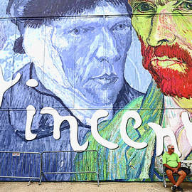 Vincent and the Man on the Bench by Allen Beatty