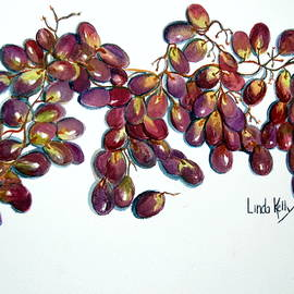 Vine Ripened Grapes by Linda Kelly