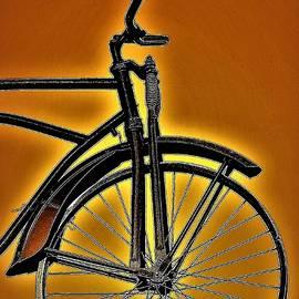 Vintage Bicycle Orange by Elizabeth Pennington