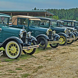 Vintage Car Lineup by Alana Thrower