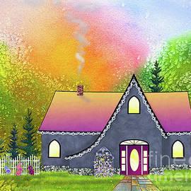 Vintage Garden Cottage by Teresa Ascone