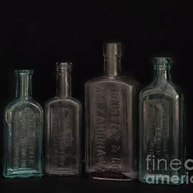 Vintage Medcine Bottles by Frank Kapusta