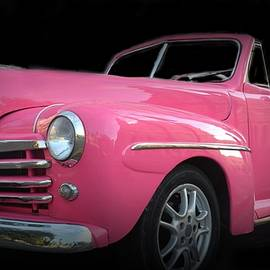 Vintage Pink Ford Convertible by Toni Abdnour