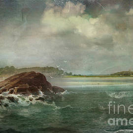 Vintage Seascape by Kelley Freel-Ebner