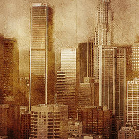 Vintage skyline of Los Angeles by Alex Mir