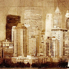 Vintage skyline of New York by Alex Mir