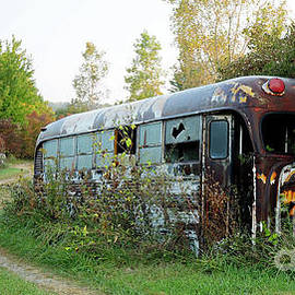 Vintage Superior Bus, Indiana by Steve Gass