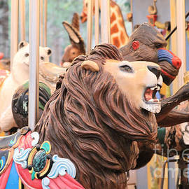 Vintage Zoo Carousel by Diann Fisher