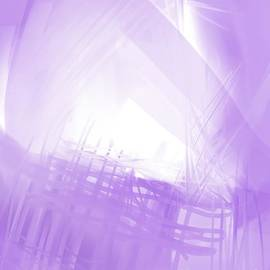 Violet Bliss Abstract Expressionism  by Sarah Niebank