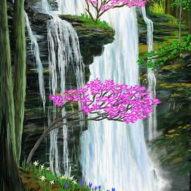 Virgin Falls in Springtime  by Gary F Richards
