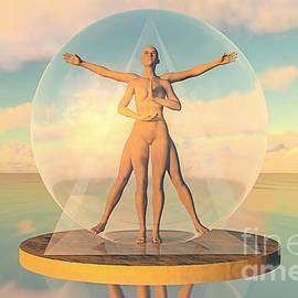 Vitruvian Woman by Pedro Elias