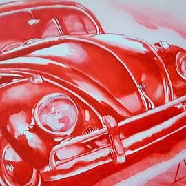 Volkswagen Beetle in Red by Loraine Yaffe