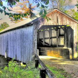 VT Covered Bridges - Kidder Hill Covered Bridge Over South Branch Saxtons River #3A, Windham County by Michael Mazaika