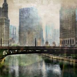 Wabash Avenue Bridge Over The Chicago River by Toni Abdnour