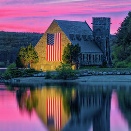 Wachusett Reservoir Old Stone Church by Juergen Roth