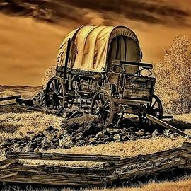 Wagon at Farewell Bend by Michael R Anderson