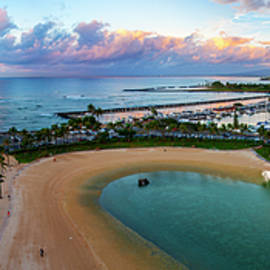 Waikiki Marina Panoramic by Anthony Jones