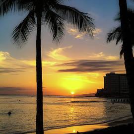 Waikiki Sunset by Derek Winters