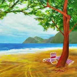 Waimanalo Bay Beach park by Nancy Shen