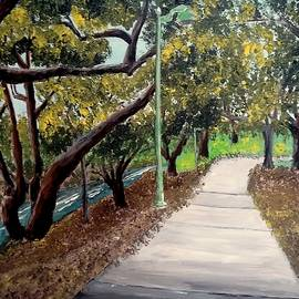 Walkway In The Park by Irving Starr