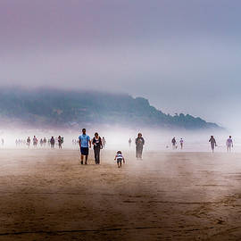 Walking Cannon Beach by David Patterson