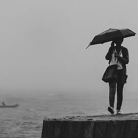 Walking In The Rain by Mike Pinto