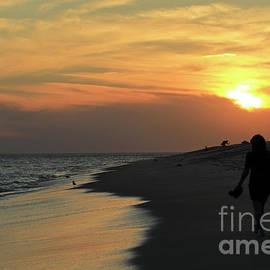 Walking into the Sunset by John Van Decker