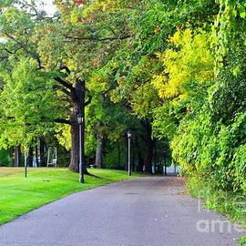 Walkway Along the Mississippi River, Minnesota by Ann Brown