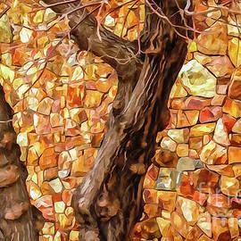 Wall of Fall Leaves by Bob Lentz