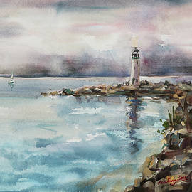 Walton Lighthouse Santa Cruz California by Xueling Zou