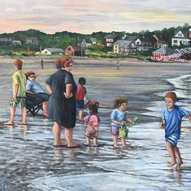 Warm Evening At Good Harbor Beach by Eileen Patten Oliver