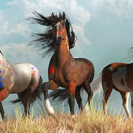 Warrior Horses in War Paint by Daniel Eskridge