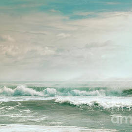 Wash Me Away Beach Seascape Outer Banks North Carolina by Kelley Freel-Ebner