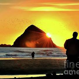 Watching The Sunset - Oceanside Oregon by Beautiful Oregon