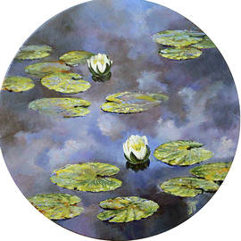Water lilies in the clouds by Leonid Polotsky